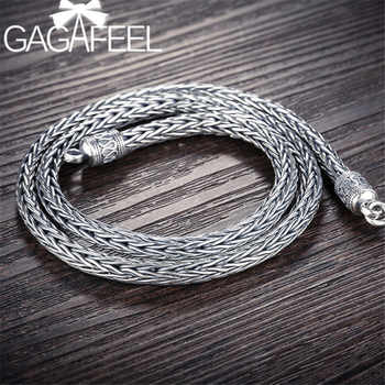 GAGAFEEL 4/5MM Thick Chain 925 Sterling Silver Male Necklaces Men's Heavy Snake Necklaces Men Jewelry Top Quality - DISCOUNT ITEM  35% OFF All Category