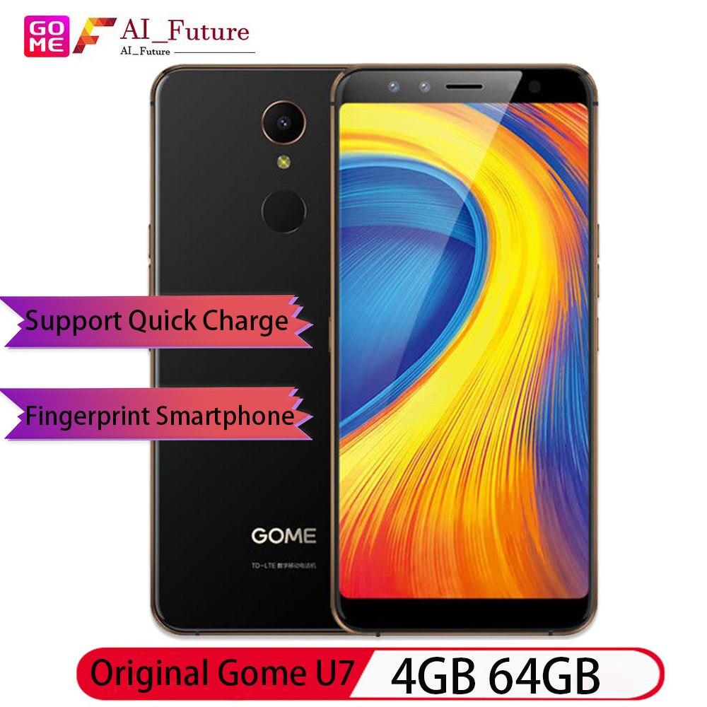 Original Gome U7 4GB 64GB 5.99inch 18:9FHD 3050mAh mobile phone  Quick Charge Fingerprint 4G Smartph