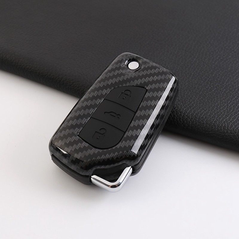 US $20 27 48% OFF For Toyota Camry 2018 Carbon Fiber Style Remote Fold Key  Fob Cover Smart Case Key Case For Car New-in Key Case for Car from