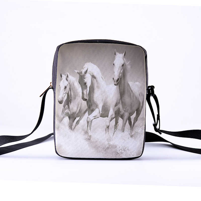 243e264b98 ... CROWDALE Women Messenger Bags 3D-Denim Animal-horse Shoulder Bag  Handbags galloping horse Children ...