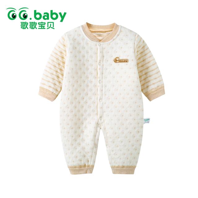 Bebé Mameluco del Mono de Invierno Ropa para Bebés Ropa de Bebé Monos Mamelucos de Algodón de Manga Larga Caliente de Los Bebés Pijamas Nieve