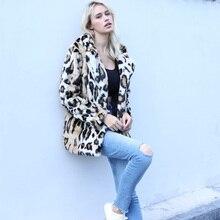 купить faux fur coat  fur jacket Winter faux fur leopard coat New hooded lady faux fur coat female по цене 4384.92 рублей