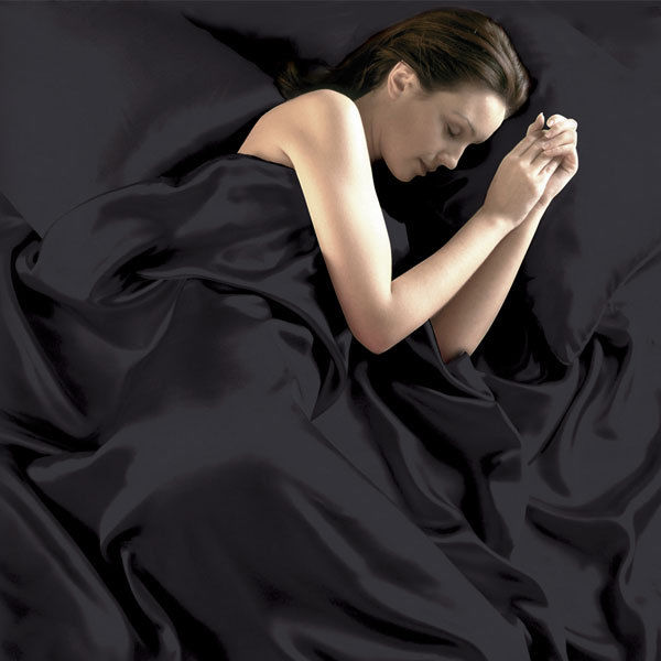 Satin Silk Soft Bed Sheet Set 95gsm 4 Pce Luxury Good Quality Red Black Bed