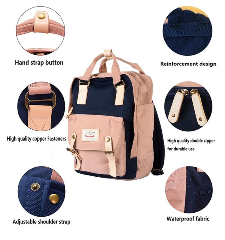 Image 4 - Himawari Brand Cute Nylon Backpacks Travel Bag Women Waterproof  Laptop Backpack Large Capacity Mummy Bags Mochila School Bag  no1backpack waterproofbackpack largeschool backpack