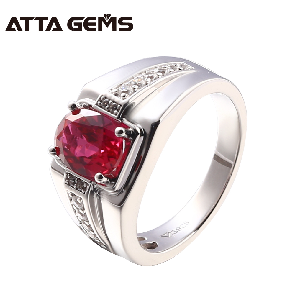 Red Ruby Sterling Silver Rings Women Solid Silver 1.2 Carats Created Ruby Rings Women Classic Design Wedding Engagement RingsRed Ruby Sterling Silver Rings Women Solid Silver 1.2 Carats Created Ruby Rings Women Classic Design Wedding Engagement Rings