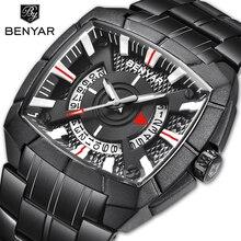 цены BENYAR Men's Watches Business Watch Top Brand Luxury Quartz Watch Men Clock Stainless Steel Waterproof Watch Relogio Masculino