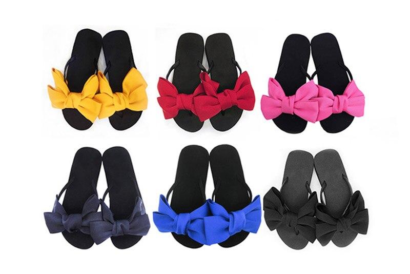 2018 New Flip Flops Fashion Solid Women Shoes EVA Platform Slip on Summer Slipppers Shoes Women Big Bow Decoration Sandals Woman (16)