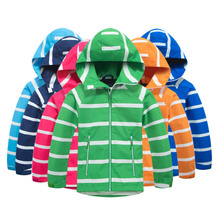 Outerwear Sport Boy Waterproof Jackets Windproof Jacket Winter Polar Fleece Warm Coat Children Jacket Kids Hooded Windbreaker 2020 autumn winter waterproof windbreaker girls jacket for child hooded star polar fleece girls outerwear coat 3 12t kids jacket