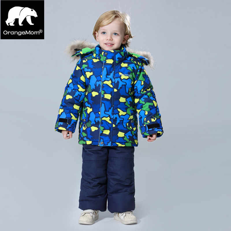 Подробнее Обратная связь Вопросы о Orangemom 2018 комплекты одежды для детей,  зимний комбинезон для мальчиков, утепленные пальто + штаны, детские куртки,  ... 6539a314141