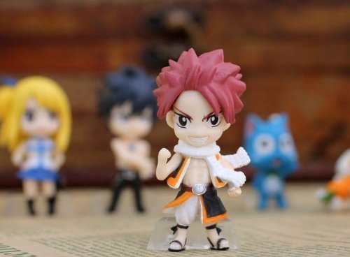 Lucy Erza /& Pue Gray Fairy Tail Set of 6PCS Action Figure Doll Natsu