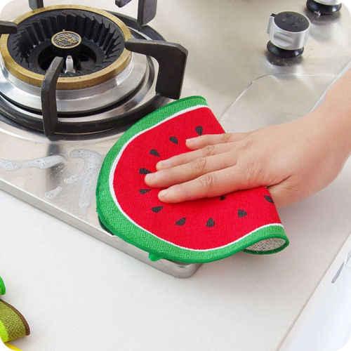 Для маленьких девочек и мальчиков салфетка из микрофибры для чистки инструменты Полотенца ткань для дома номер мягкое полотенце для рук с рисунками фруктов висит банное полотенце для лица Полотенца
