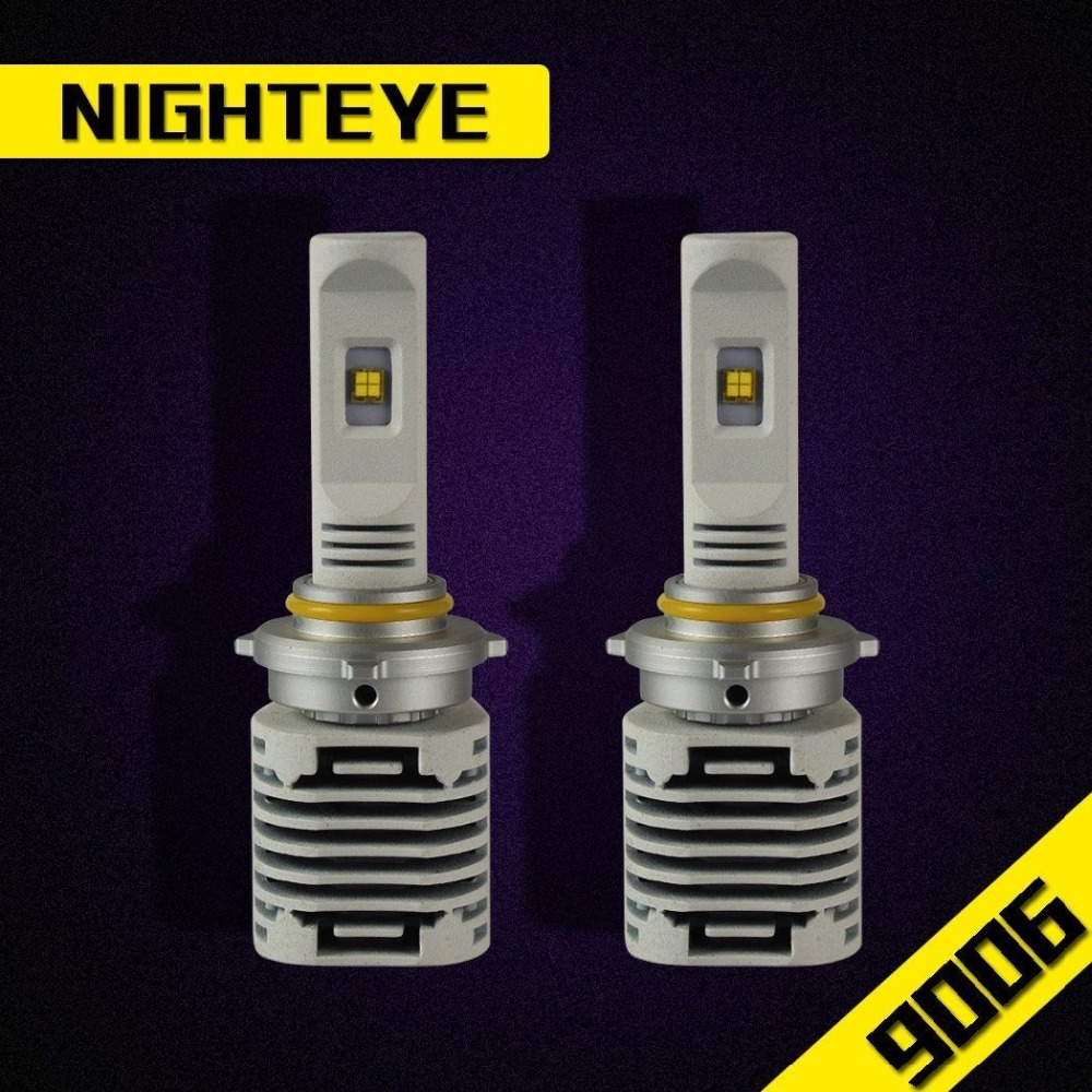 NIGHTEYE Original 80W 12000LM KIT 9006 HID White 6500K HB4 LED Conversion Headlight Bulbs 80W Set(40W Each Bulb)