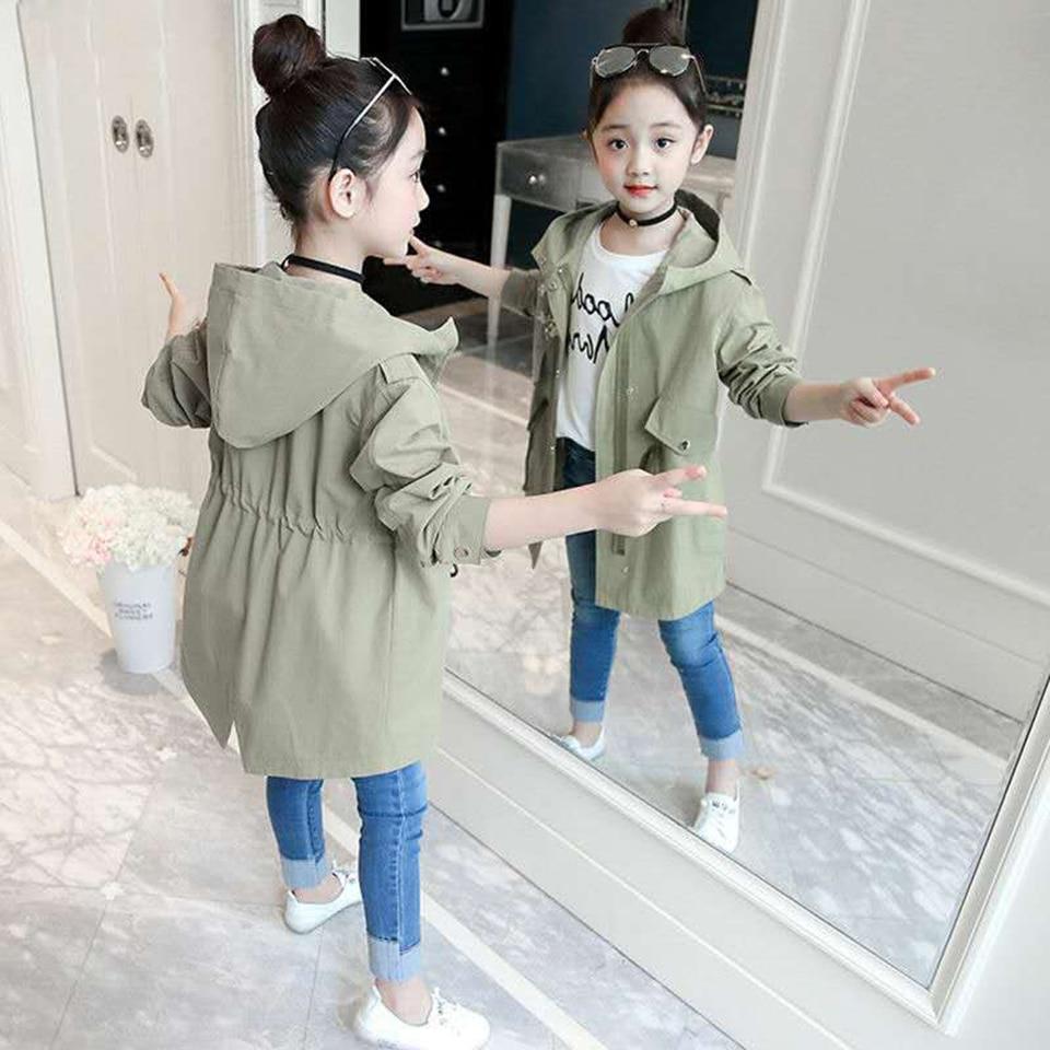 Новая Брендовая детская одежда куртки для девочек детские ветровки с капюшоном верхняя одежда для маленьких девочек, пальто для детей от 4 до 13 лет