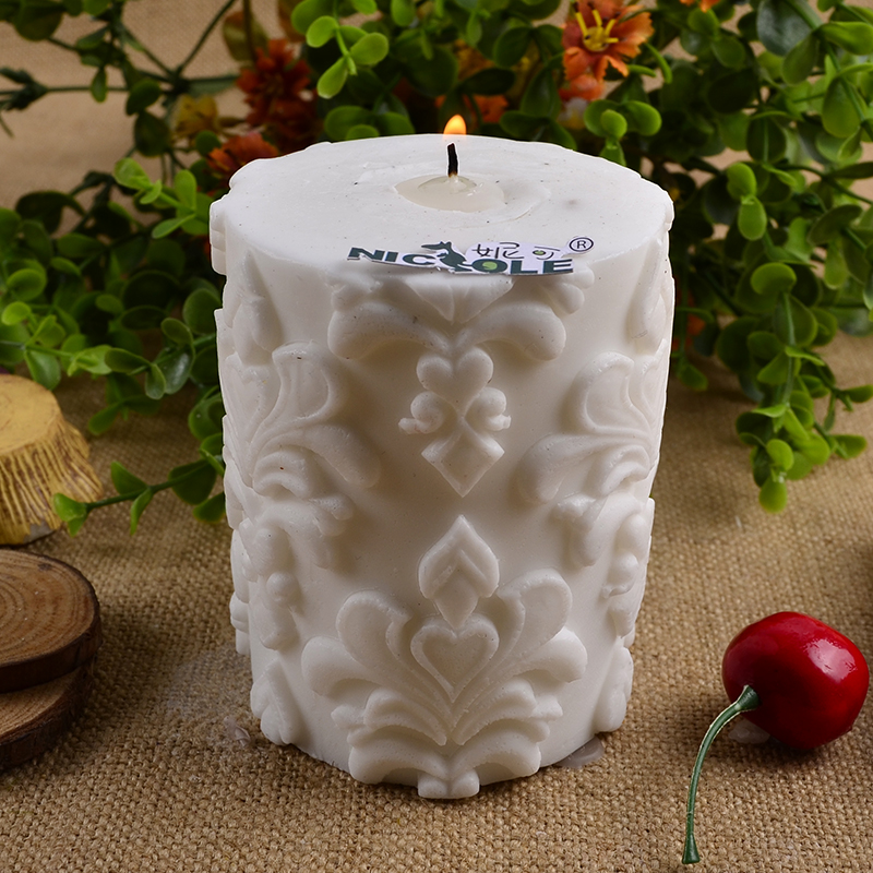 Silicone Candle Molds for Soap Candle Making 3D Round Cylinder Handmade Craft Candle Form