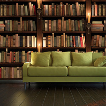 encargo de la foto del papel pintado europeo retro d libros estantera estantera de pared sof de televisin de fondo de papel tapiz mural d papel tapiz