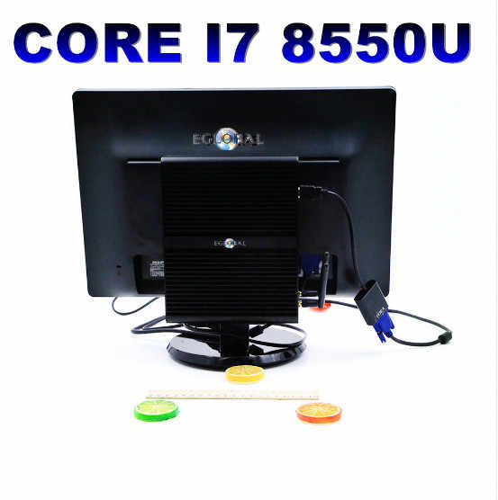 8th Gen Mini PC Intel Core I7 8550U Quad Core 4.0GHz 8MB Cache Quạt Không Cánh Mini Máy Tính Win 10 4K HTPC Intel UHD Graphics 620 Wifi