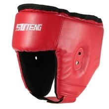 лучшая цена Boxing Training Headgear Head Guard Martial Arts Kick Sparring Helmet Gear Face Head Protector