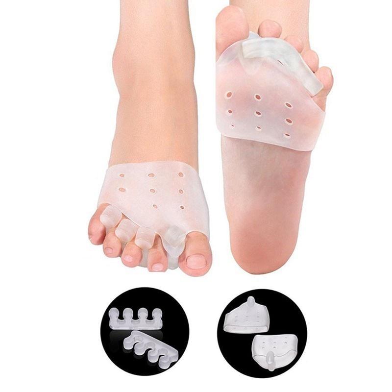 4PCS Reusable Silicone Gel Toe Separator Toe Corrector for Women Hallux Valgus Straighter Feet Care Bunion Stretcher T0480SHD 3