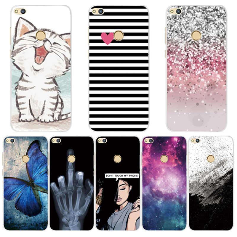 For Huawei Honor 8 Lite Case Cover For Honor8 Lite Case Silicone Back Cover For Protector Huawei Honor 8 Lite Phone Cases Fundas
