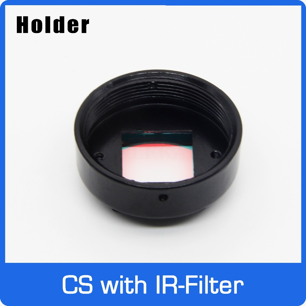 CS Mount Holder Full Metal with 650nm IR Filter For CS Lens Support 20mm Hole Distance PCB Board Module or CCTV CameraCS Mount Holder Full Metal with 650nm IR Filter For CS Lens Support 20mm Hole Distance PCB Board Module or CCTV Camera