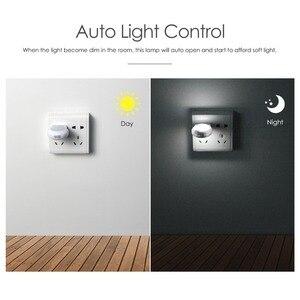 Image 3 - Mini Cute LED Socket Night light EU Plug Sensor auto on/off Wall lamp 110V 240V LED light Baby Kids Bedroom home night lighting
