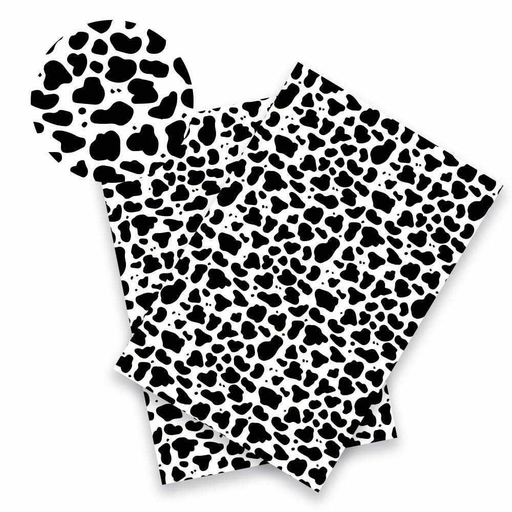 JOJO łuki 22*30 cm 1 pc Faux skóry syntetycznej tkaniny dla Craft kolorowe zwierząt druku arkusz do robótek ręcznych DIY Hairbow materiał torby