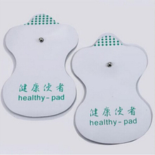 New 5 Pair (10Pcs) Massager Pads White Electrode Pads For Tens Acupuncture Digital Therapy Machine Massager Tools(China)