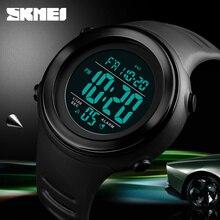 SKMEI роскошные Цифровые мужские часы спортивные Chrono будильник обратный отсчет военные водонепроницаемые мужские наручные часы Relogio Masculino