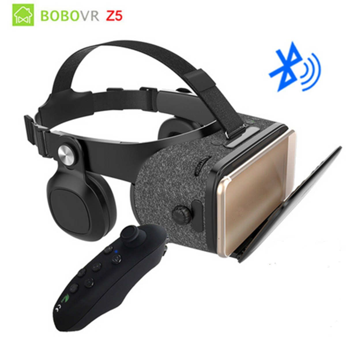 VR Glasses BOBOVR Z5 VR cinema Stereophonic Hi Fi earphone Compatible 4.7 6.2 Inches Bluetooth Gamepad 3D VR Virtual Reality