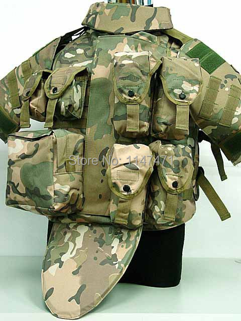 OTV Camouflage Interceptor Tactical Vest Colete Airsoft Tactical Molle Body  Armor Combat Plates Vest Multicam Military Uniform-in Hunting Vests from  Sports ... 219107ff9e230