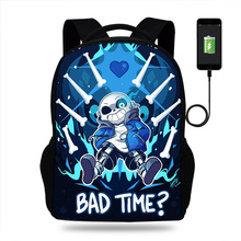 Game Undertale Sans Papyrus school bags large backpack for teenagers high boys girls student casual USB bag