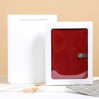 Batterie externe sans fil chargeur cahier à feuilles mobiles livre A5 multifonction charge trésor Kit de cahier créatif avec disque U