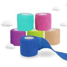Bandagem elástica auto-adesivo bandagem fita esportiva médica vendas adesivos deporte vendaje venda cohesiva dedo fita esparadrapo