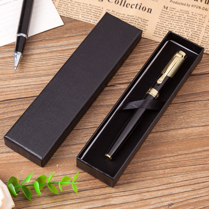 Creative Black Fountain Pen Box School Office Stationery Gift Pen Boxes Pencil Cases For Students Friends Gift Student