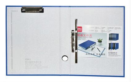 A4 картонная папка канцелярские принадлежности файл дней сбора данных мощный сшиватель 2-отверстие зажим+ с дисковым зажимом многофункциональная Двойная сила - Цвет: Тёмно-синий