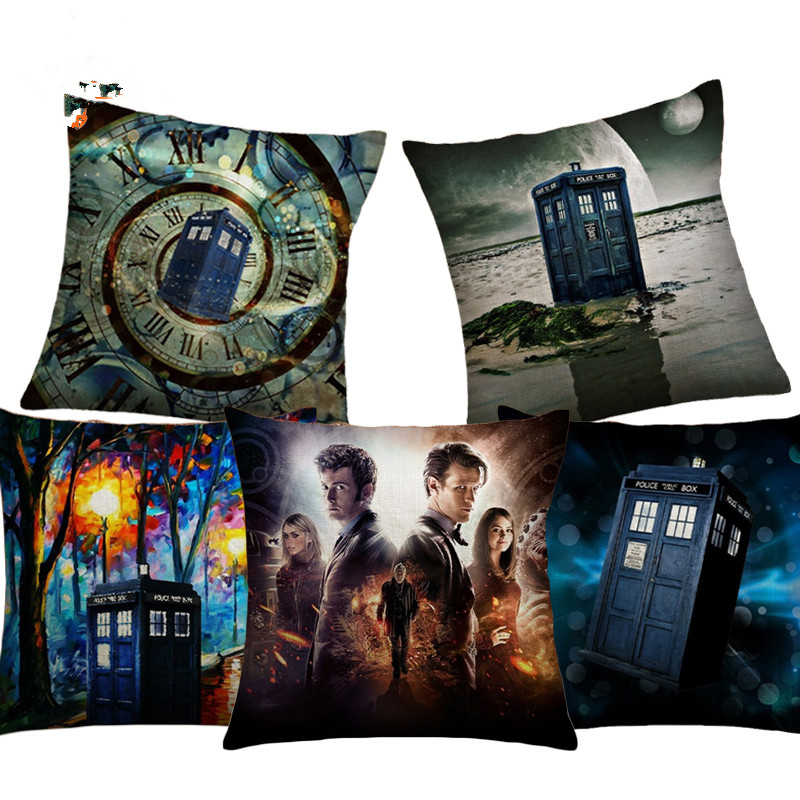 Doctor Who Cushion Cover Cotton Linen House Home Decorative Throw Pillow Cover for Sofa Car Bedroom Cushion pillow