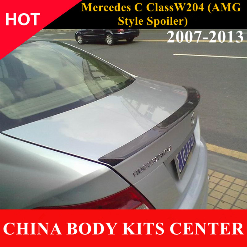 AMG style Mercedes W204 Carbon Fiber Rear Trunk Tail Wing Spoiler For Benz C Class W204 2007 - 2013 C180 C200 C300 C350 sedan mercedes w212 car styling carbon fiber replacement spoiler for benz e class w212 amg style 2010 rear trunk tail spoiler wing
