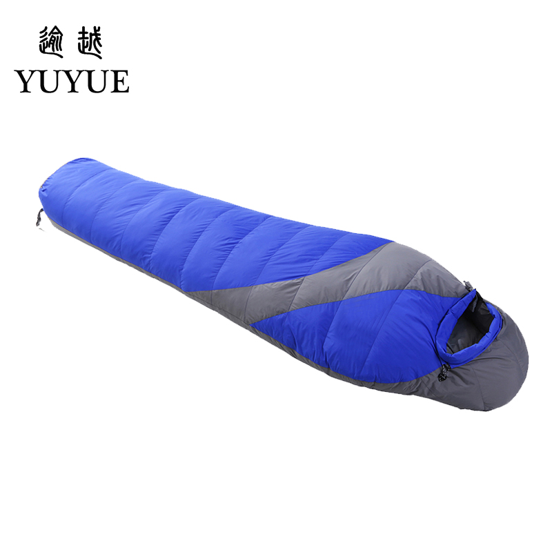 Outdoor Adult Warm Down Sleeping Bag For Winter Camping Tent Waterproof Nylon Survival Sleeping Bag Camping Tourism Supplies 4