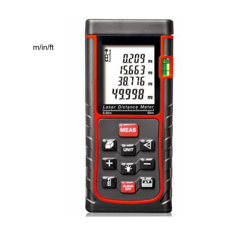 Digital Laser Distance Area Volume Meter Laser Rangefinder 120m 150m Range Finder Auto Power Off LCD Backlight Electronic