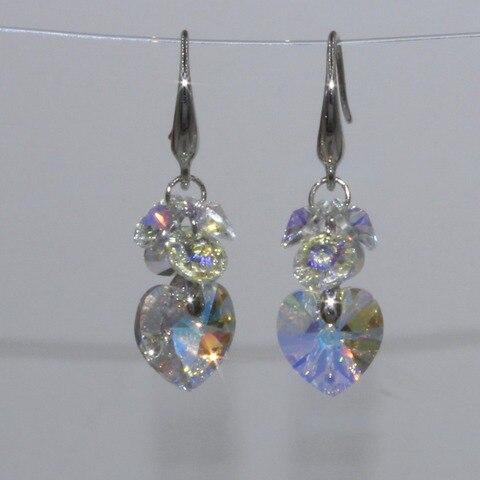 Популярные Модные Разноцветные серьги с кристаллами украшения