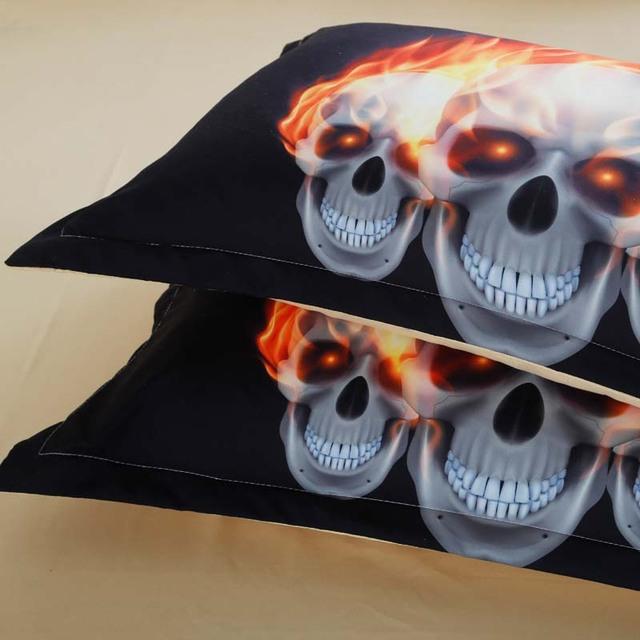 3D SKULL FIRE BEDDING SET