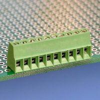 100pcs 10 Poles 2.54mm/0.1 PCB Universal Screw Terminal Block