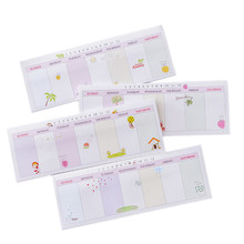 1Pack/lot Long Week Plan N Times Post Sticky Post Work Study Memo Schedule Plan Student Stationery Office Supply(China)