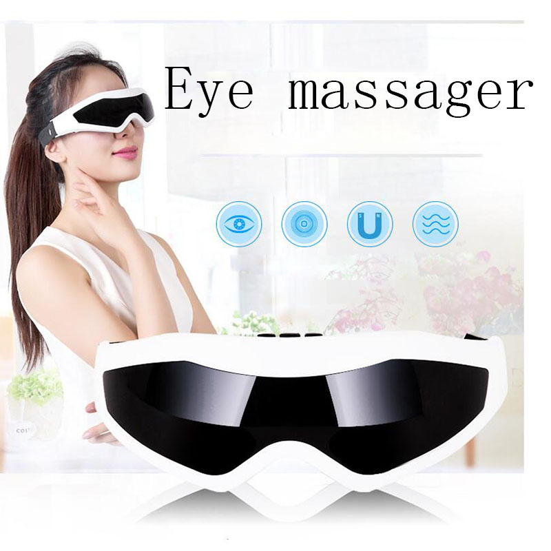 Electric Eye Massager Device Health Care Magnet Therapy Relax Vibration Alleviate Fatigue Forehead Acupressure Healthy Massage health eye care electrical magnetic alleviate fatigue relax massager forehead y207e hot sale