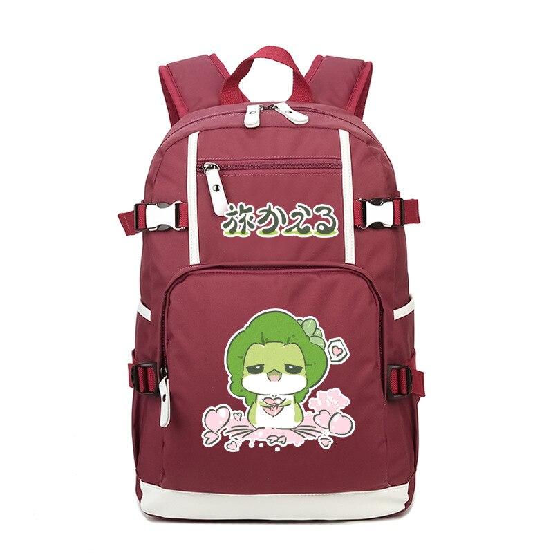 Voyage grenouille imprimé lecture grenouille sac à dos pour ordinateur portable école livre fille sac sac à bandoulière sac de voyage garçons filles cadeau