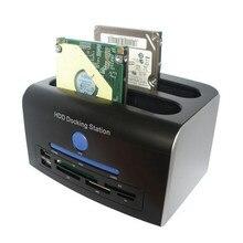 2.5 «3.5» SATA IDE HDD док-станция двойной жесткий диск esata док USB HUB удобство 17Aug30