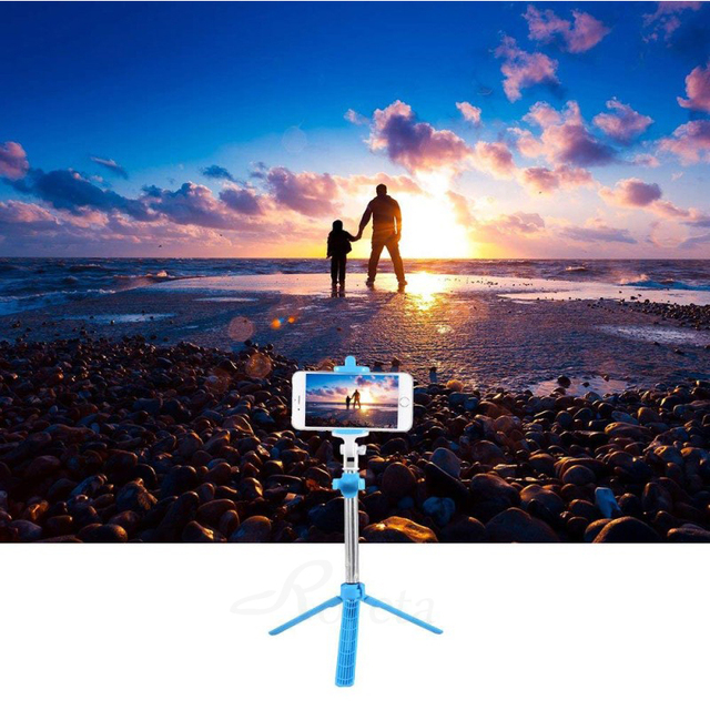 Roreta Handheld Bluetooth Selfie Stick Wireless Extendable Monopod Shutter Remote Foldable Mini Tripod For iPhone 8 X 7 6s Plus