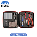 Full Set DIY Tool Coil Master V2 Kit Coil Winder Ceramic Tip Tweezers Ohm Meter Tester Updated Quality fit RDA RTA Atomizer