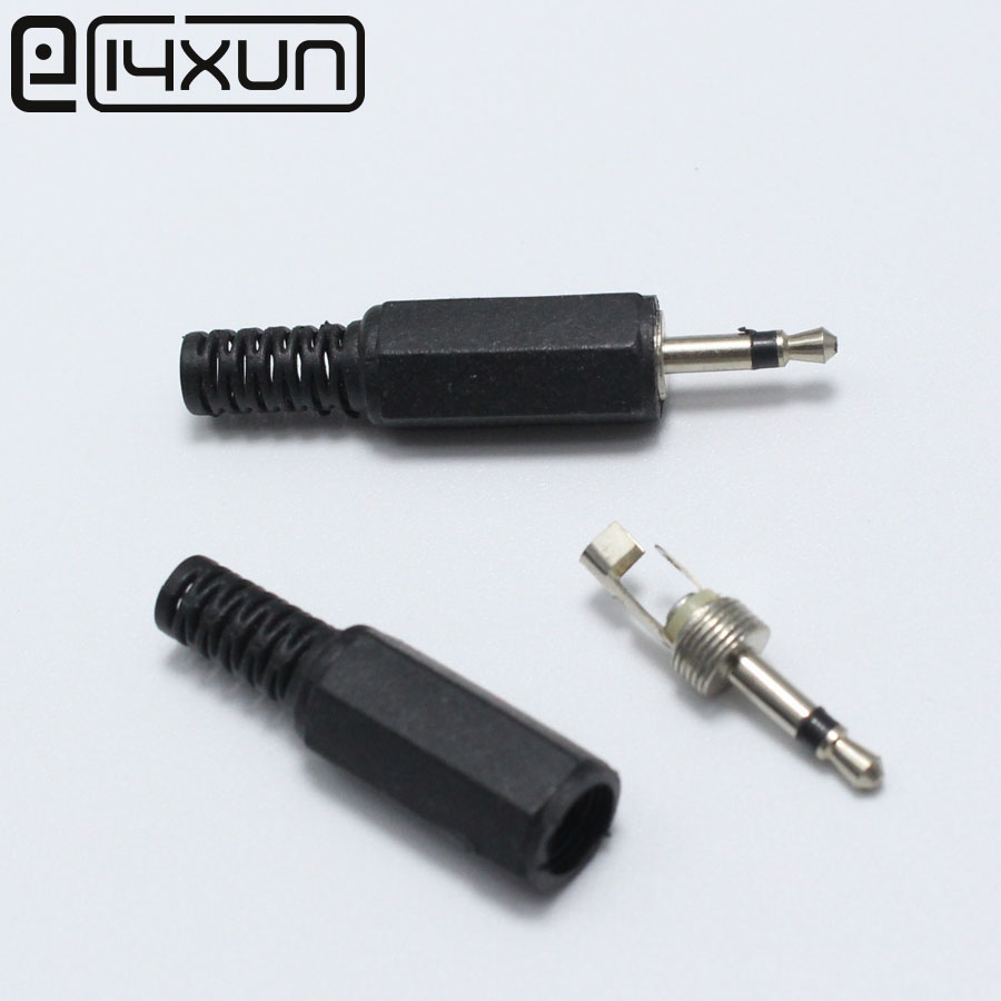 5pcs 2.5mm Mono Male Plug Jack DIY Solder Headphones Audio Connector