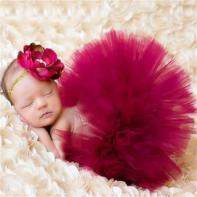 Newborn Photography Props Baby Tutu Skirts Ballerina Toddler Girls Party Children Skirts Infant Girls Birthday Party Clothes